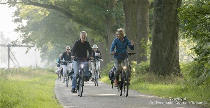 De route leidde langs het kanaal Nordhorn-Almelo