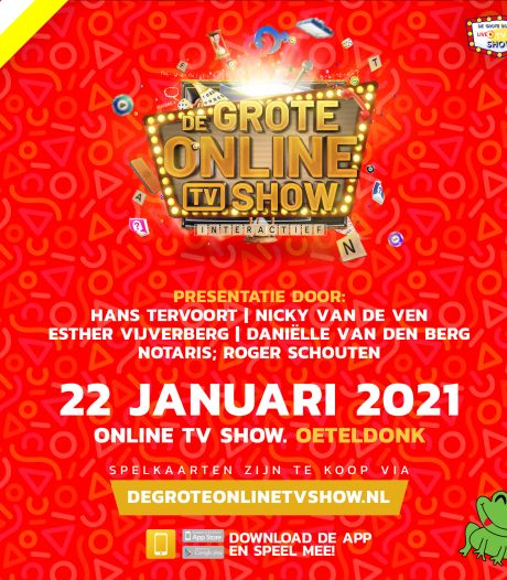 Vincent van Gok en bekertje-bekertje in online tv-show Oeteldonk