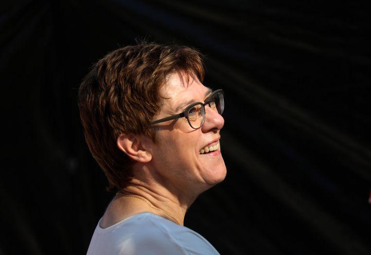 De Duitse minister van Defensie, Annegret Kramp-Karrenbauer. Beeld EPA