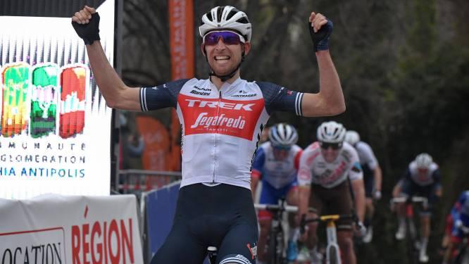 Balen voor Van Avermaet: 'Gouden Greg' verliest in openingsrit Tour du Haut Var nipt sprint van Mollema