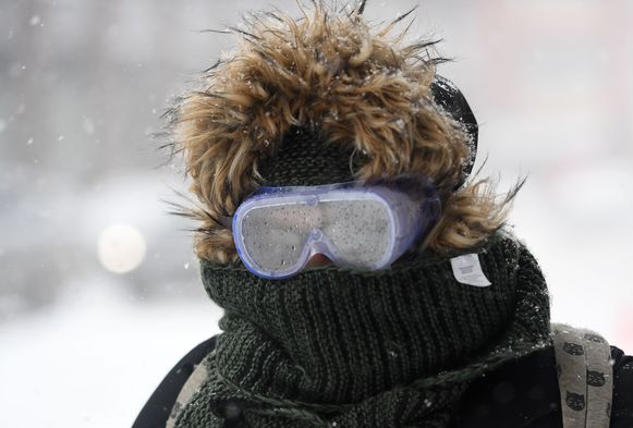 Een originele bescherming tegen de striemende, ijskoude wind.