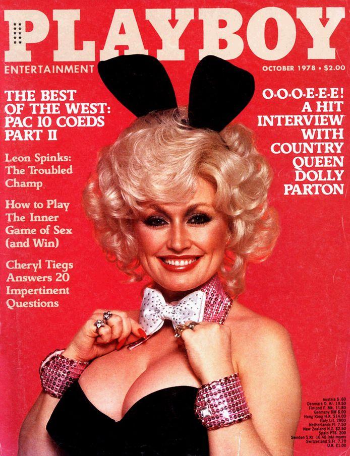 Dolly Parton en couverture du magazine Playboy en 1978.