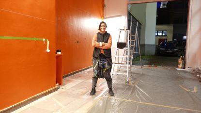 Kunstenares Bahia Shehab maakt metersgroot kunstwerk in kader van Integrated en De Connectie