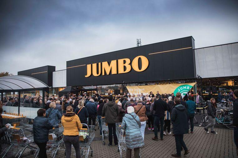 Beeld van de opening van de Jumbo-winkel in Pelt.