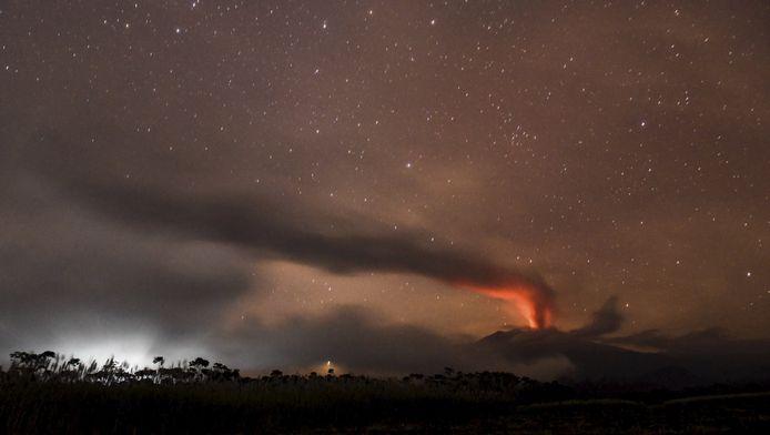 De vulkaan Raung.