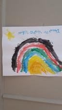 'Deze tekening heeft onze 6 jarige kleindochter Puk gemaakt'