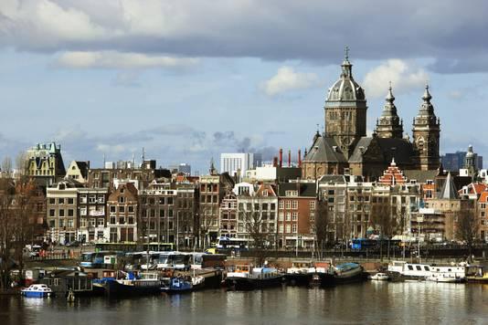 De skyline van Amsterdam