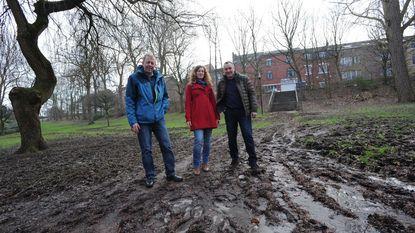 Defecte drainage en cyclocross beschadigen park