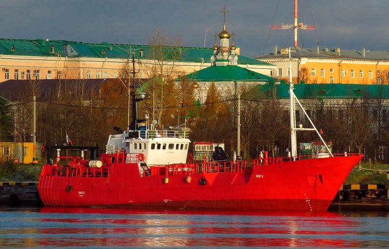 Een Russische trawler Beeld AP