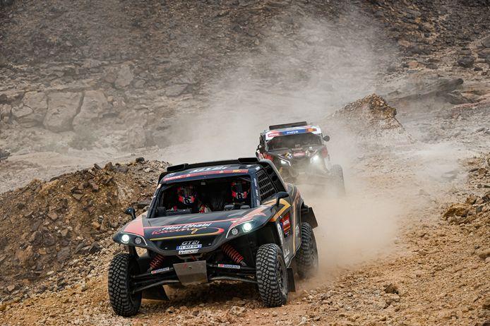 Kris Meeke kreeg aan de zijde van navigator Wouter Rosegaar twee weken een spoedcursus Dakar-rijden.