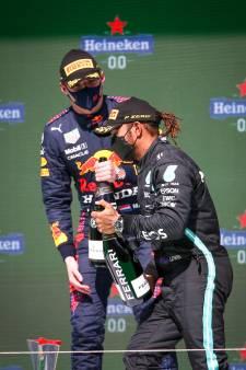 Verstappen en Hamilton respectvolle rivalen: 'We moeten eens een goed avondje uit'