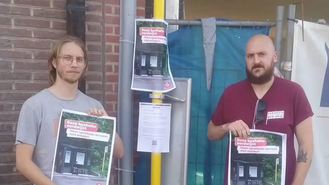 """PVDA voert actie tegen afschaffing bushaltes: """"44 stopplaatsen in Halle dreigen te verdwijnen"""""""