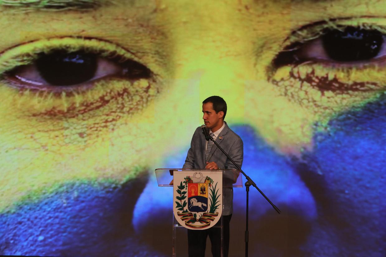 Toenmalig parlementsvoorzitter Juan Guaidó riep zichzelf twee jaar geleden uit tot president, maar na ingrepen van Maduro werd hij niet meer verkozen in het parlement.  Beeld EPA