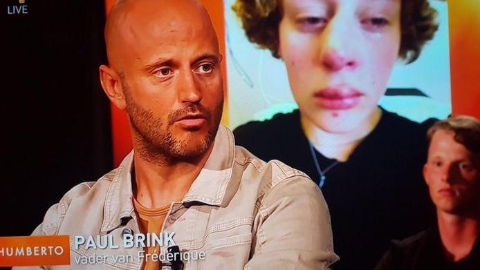 De vader van Frédérique (14), Paul Brink, schoof gisteren aan bij Humerto Tan.