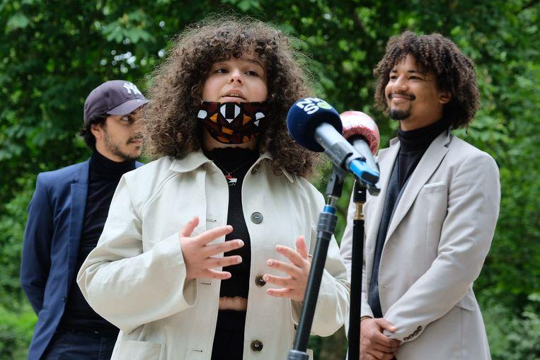 Inas Djelloul, een van de voortrekkers van Belgian Youth Against Racism, werd slachtoffer van cancel culture.  Beeld Marc Baert