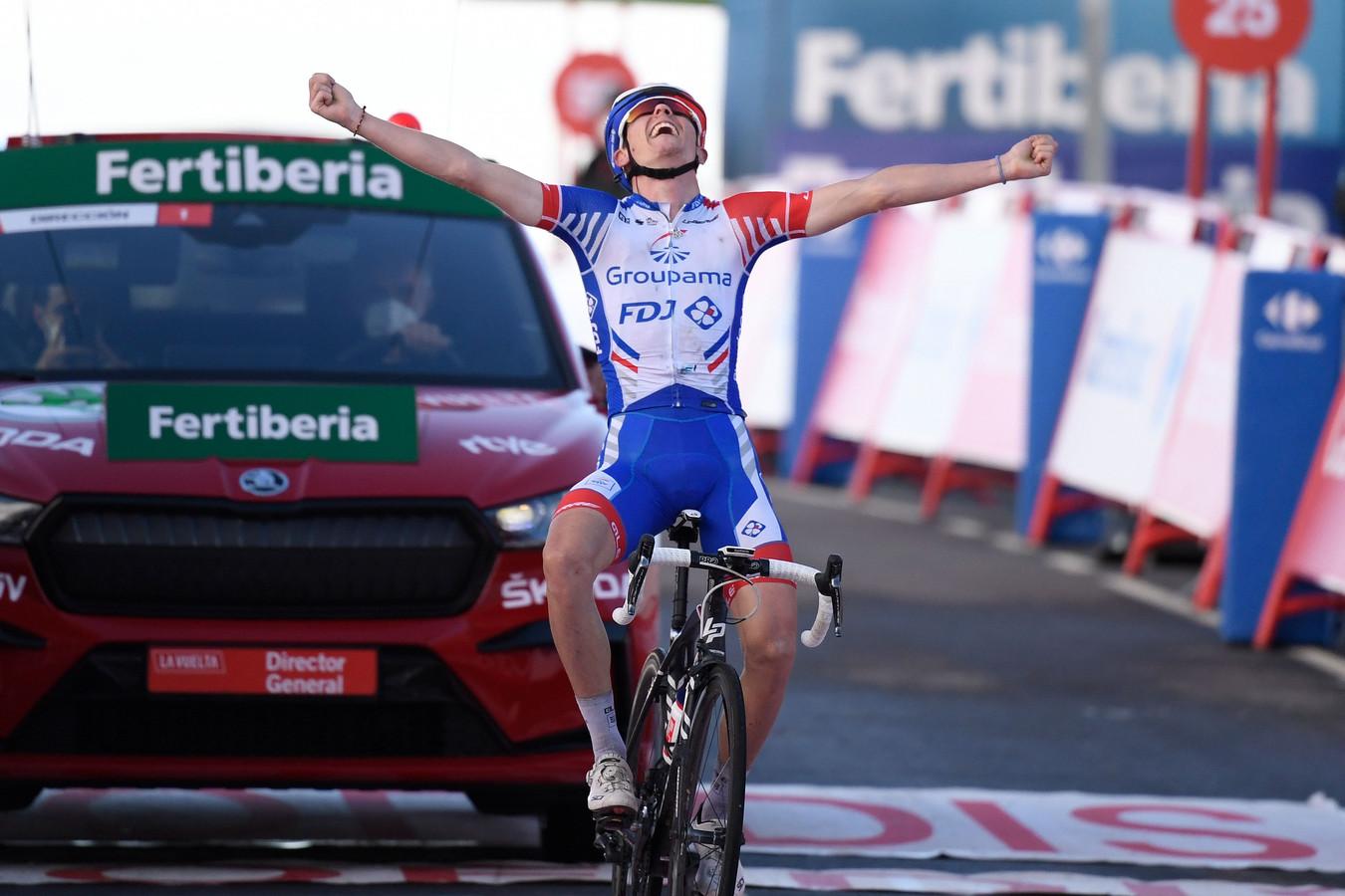 David Gaudu wint de voorlaatste etappe.