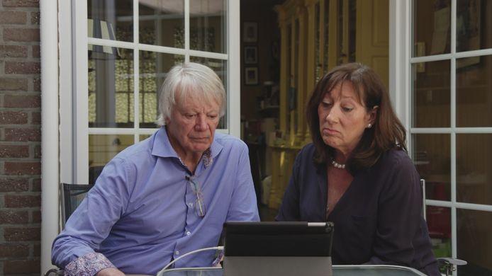 Jean Lambrecks en zijn vrouw in een eerdere reportage bij Telefacts (archiefbeeld).