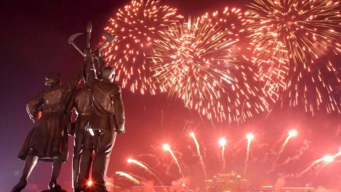 Noord-Korea schiet vuurwerk af: commentatoren in extase tijdens bizarre tv-uitzending