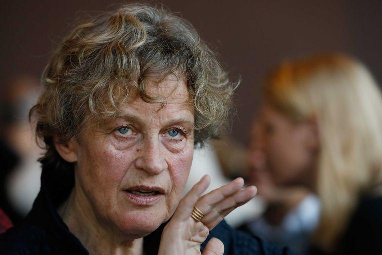Advocate Bénédicte Ficq na het besluit van het Openbaar Ministerie. Beeld ANP