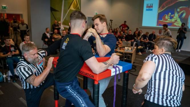Armworstelen in Papendal: 'Dit is geen kroeg-, maar een krachtsport'