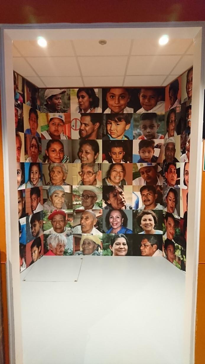 Fotocollage van inwoners van San Marcos