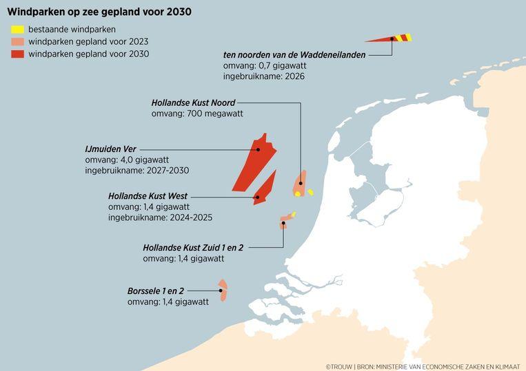 Windparken op zee Beeld Trouw | Sander Soewargana