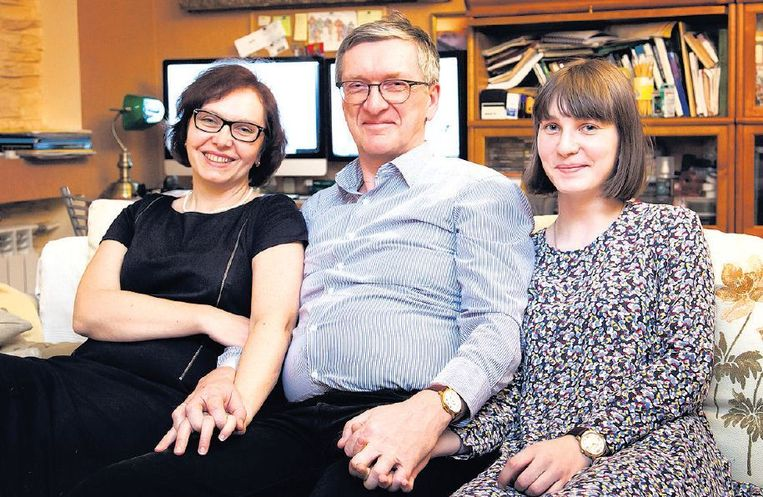 Natalia, Konstantin en dochter Polina. Beeld Aleksandr Solo