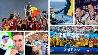 IN BEELD. Het sportjaar waar we met z'n allen van droomden, alle Belgische medaillewinnaars van 2018 in de bloemetjes gezet