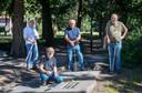 Henk Roor, Hans Weijers, Aart Aalbers en Nico van Ginkel (van links naar rechts)