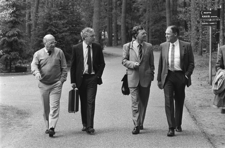 Vlnr: Rijvers, Wim Jesse, Huybregts en Michels. Beeld Nationaal Archief