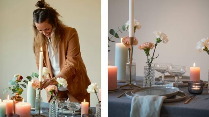 Een tafel vol liefde. Eventdesigner Maxine vertelt hoe je op 4 manieren een romantisch valentijnsdiner bij je thuis organiseert