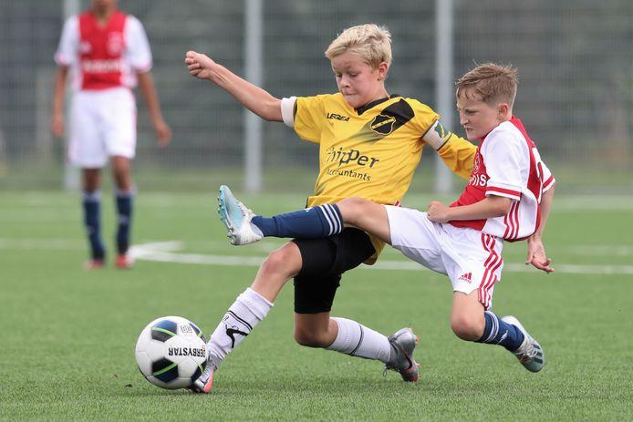 Jack Eising (12) uit Breda voetbalt in de jeugdselectie van NAC.
