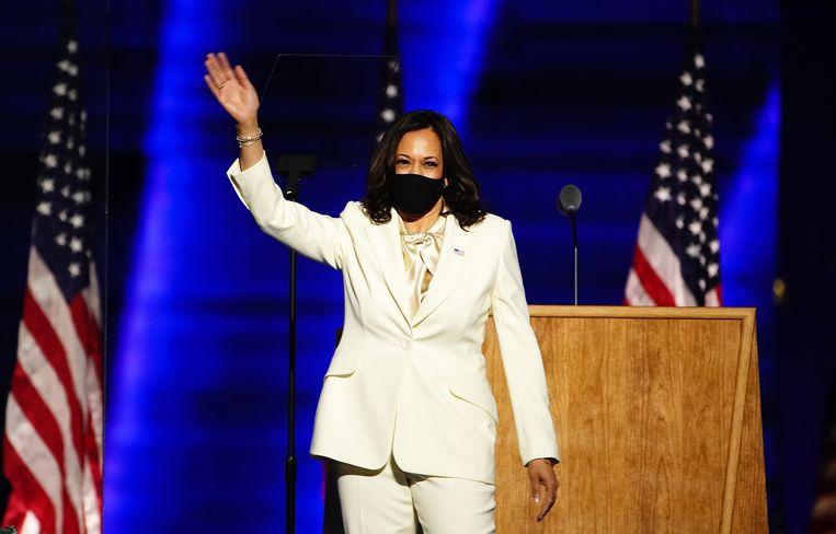 Toekomstig vicepresident van de Verenigde Staten Kamala Harris (55). Beeld EPA