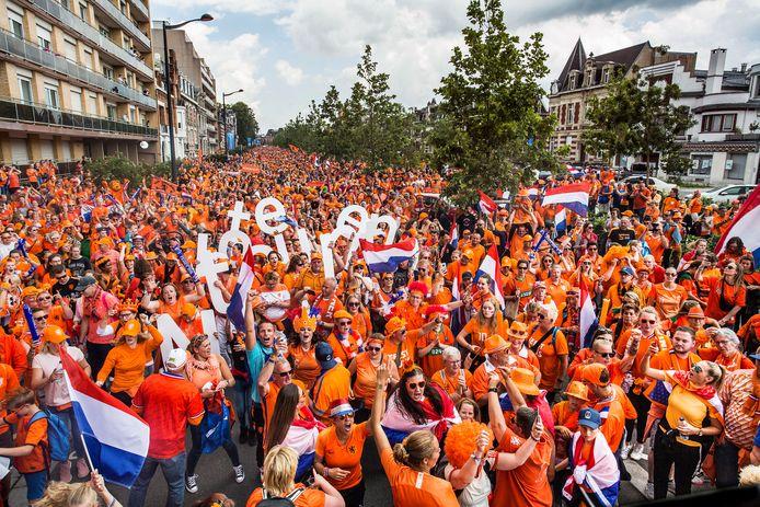 Beeld van de Oranjemars.
