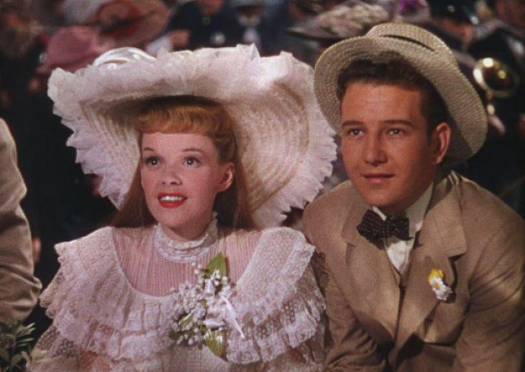 Judy Garland en Tom Drake in Meet Me in St. Louis van Vincente Minnelli. Beeld