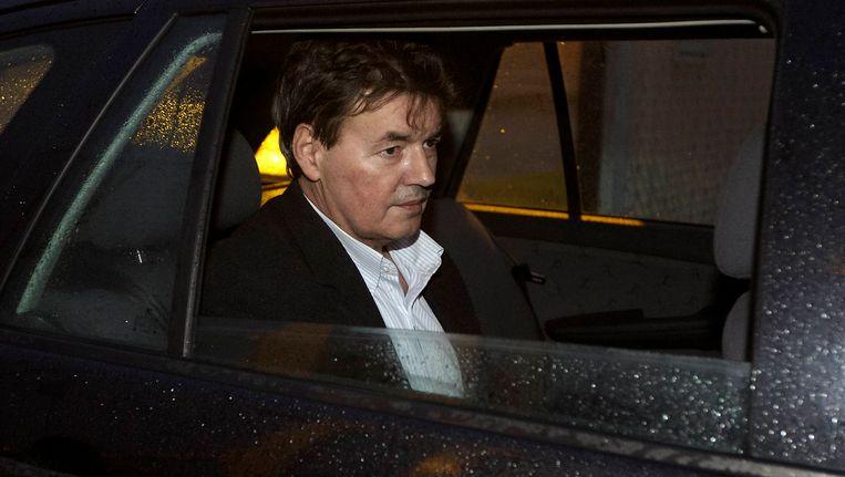 Bernard Westphael verlaat de gevangenis in Brugge. Beeld BELGA