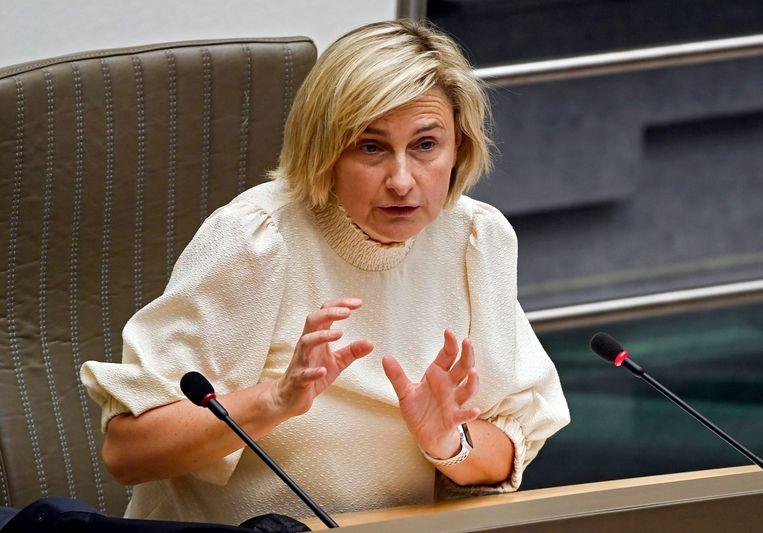 Vlaams minister van Economie en Werk Hilde Crevits (CD&V). Beeld Photo News