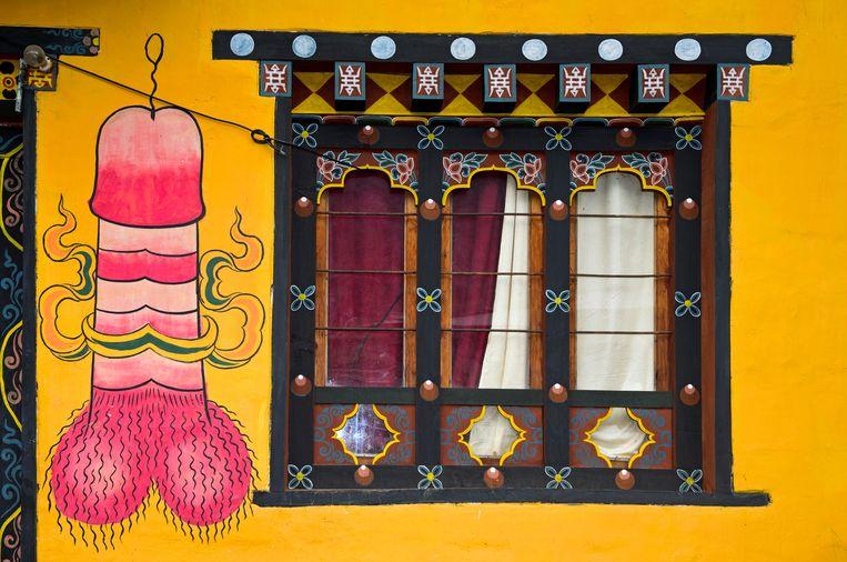 In Bhutan schijnen penissen geluk te brengen.  Beeld Alamy Stock Photo