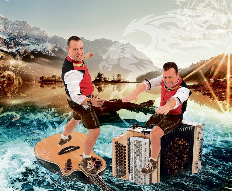 De broers Bart en Peter De Spiegelaere als AlpenFever.