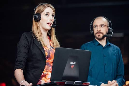 Jorien in actie als commentator