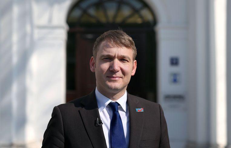 André Poggenburg, van de rechts-populistische partij Alternative für Deutschland (AfD).
