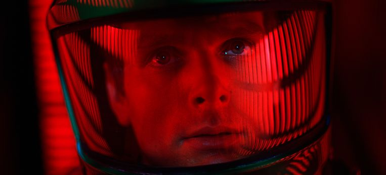 Keir Dullea als commandant Dave Bowman in 'A Space Odyssey'. Beeld AP
