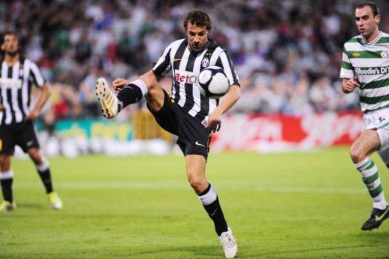 Allesandro Del Piero (M) tijdens de wedstrijd van Juventus tegen de Shamrock Rovers. ANP Beeld