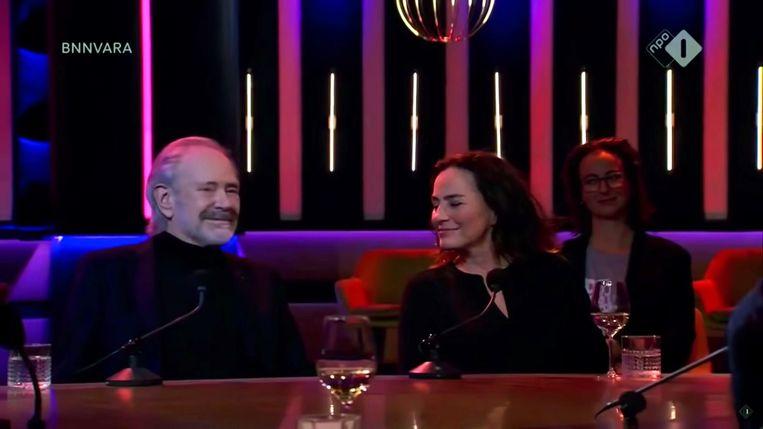 Foto: in 'Op1' bij Astrid Joosten en Paul de Leeuw. Beeld NPO