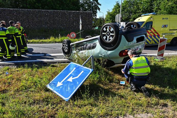Ongeluk op oprit A58