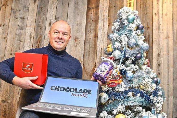 Dieter Vandecasteele wil met de website chocolademarkt dé referentie in België worden voor alles wat met chocolade te maken heeft