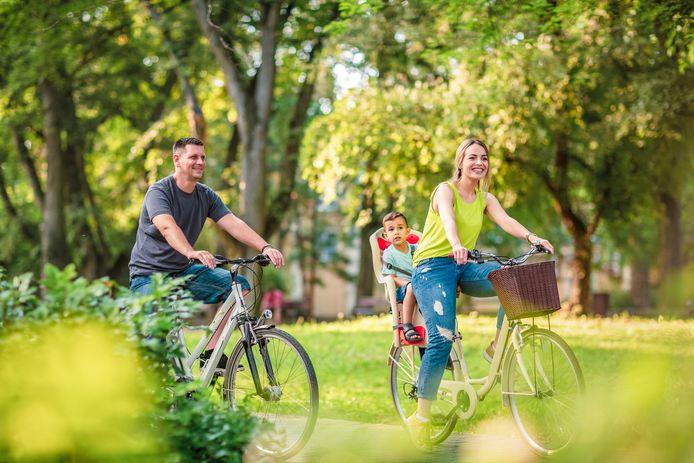Illustration. Des aménagements favoriseront les déplacements à pied, à vélo ou en véhicule électrique au sein du village.