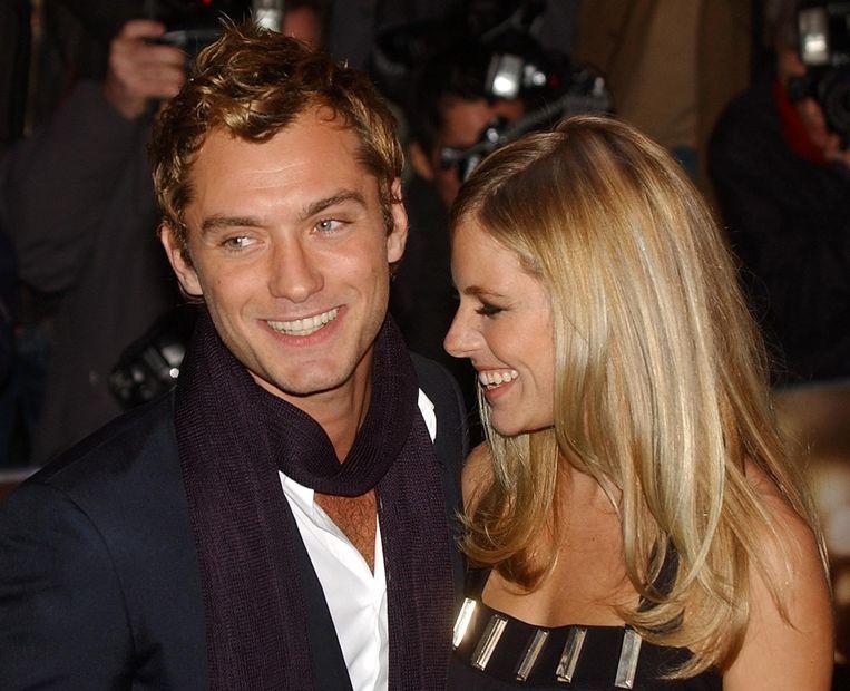 Jude Law en Sienna Miller in betere tijden.
