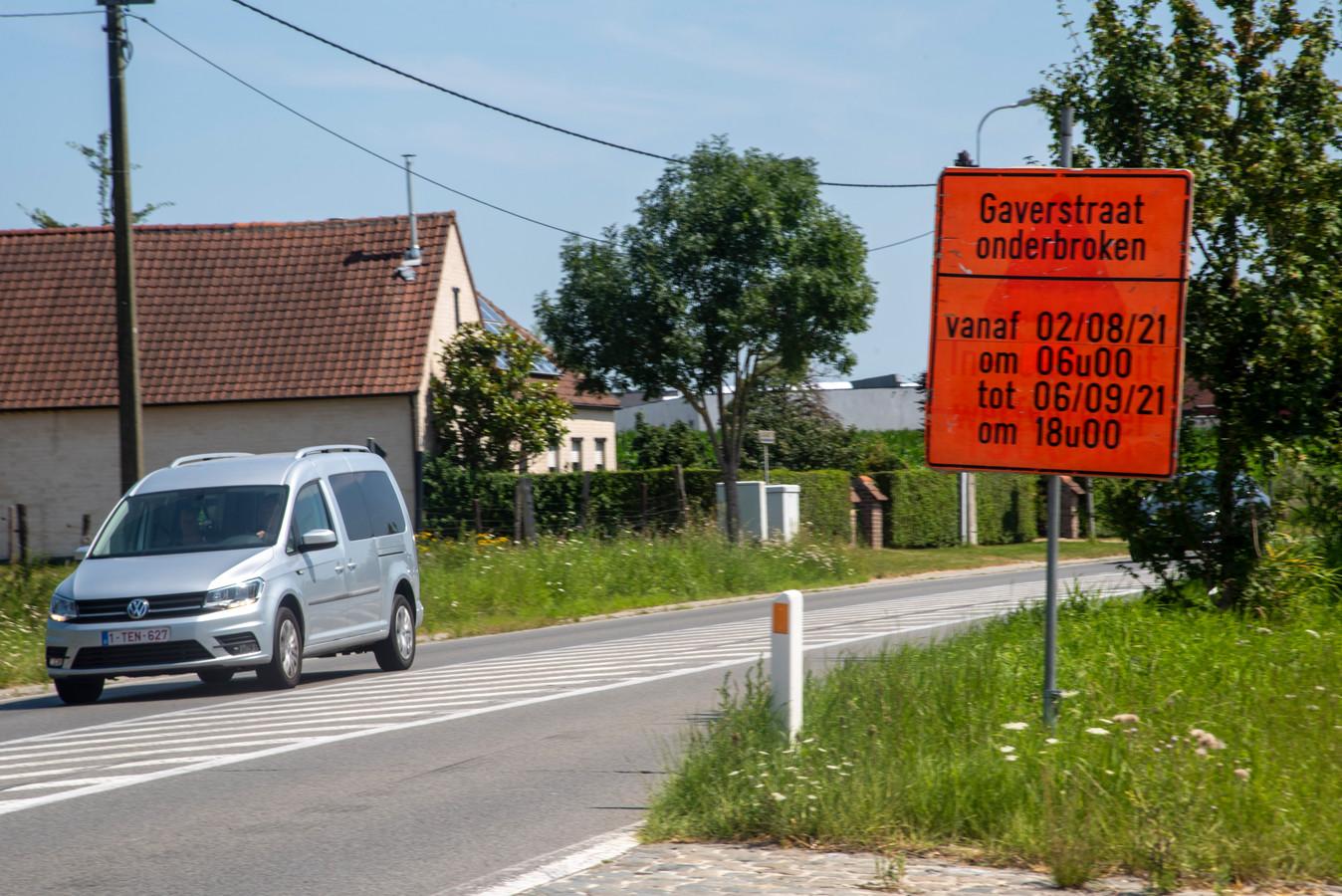 Werken aan de Gaverstraat.
