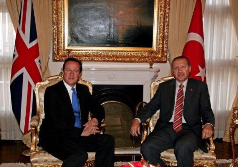 David Cameron (L) en de Turkse president Recep Tayyip Erdogan. ANP Beeld